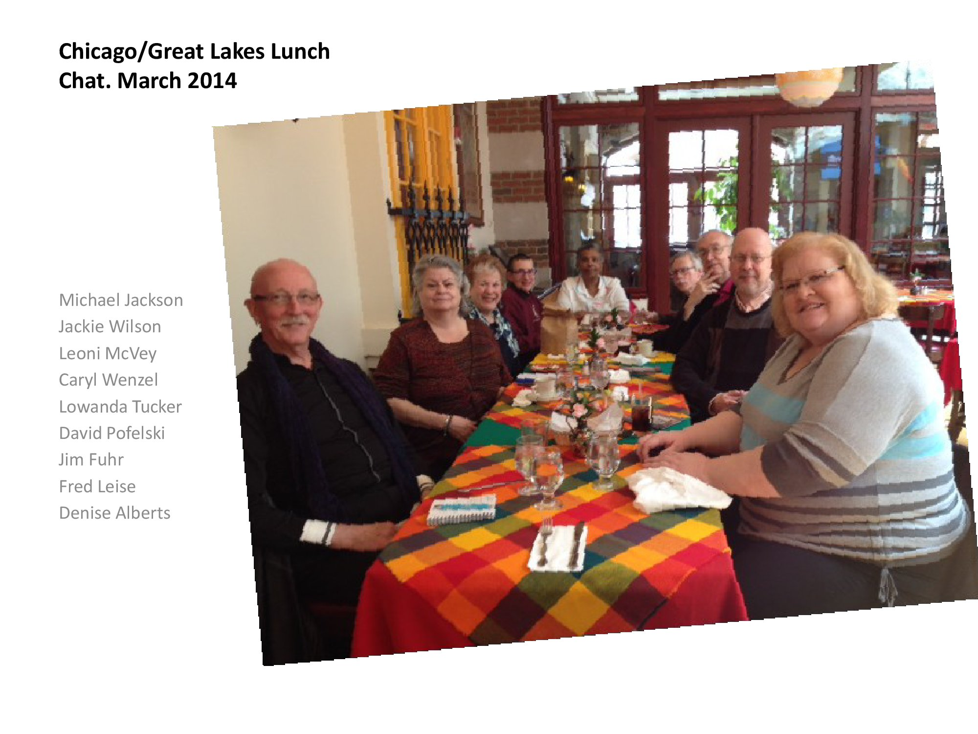 March 2014 Lunch Chat