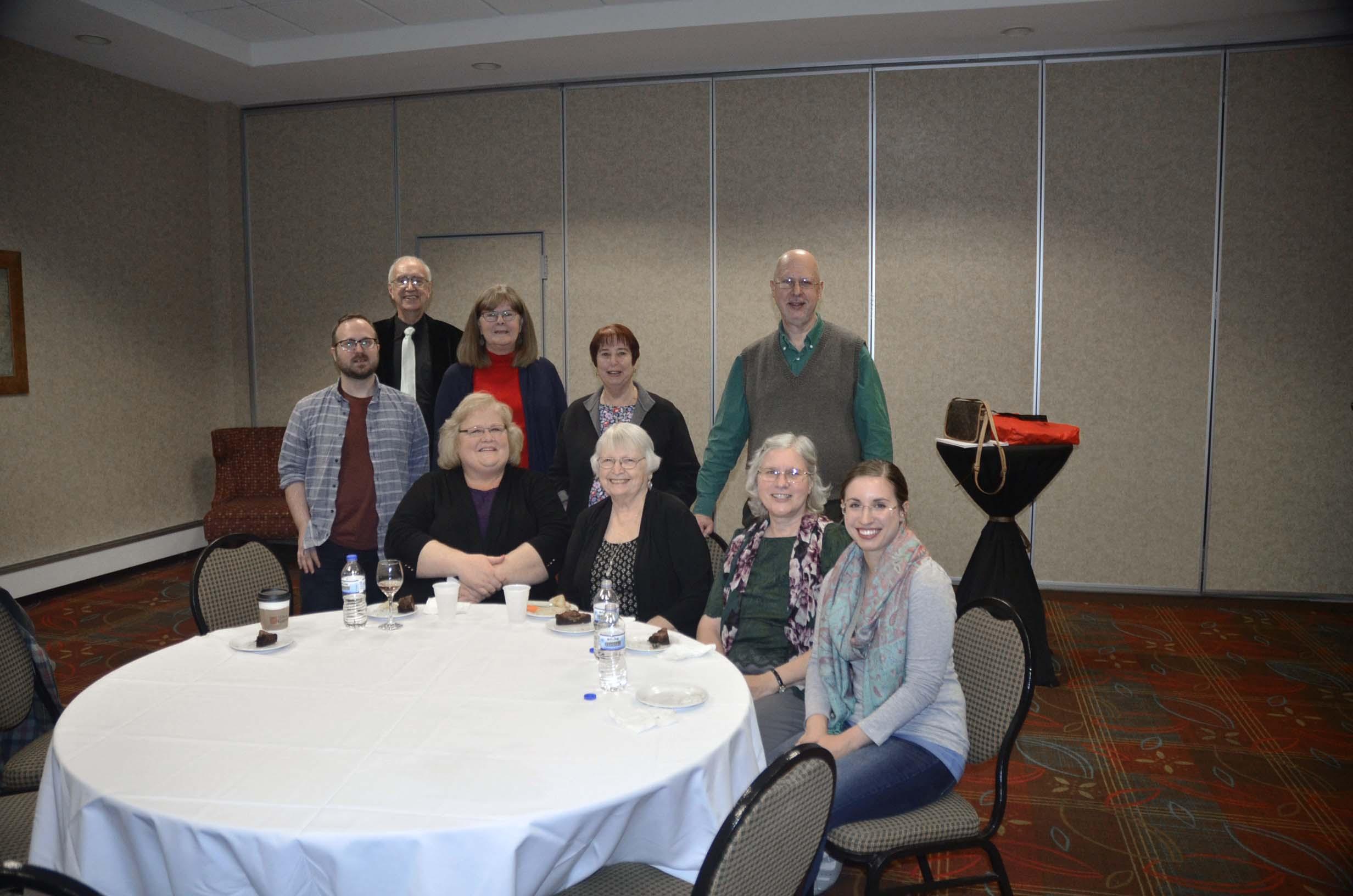 Fall 2018 Welcome Reception: Jim Fuhr, Linda Presto, Enid Zafran, Fred Leise, Ben Reike, Denise Alberts, Joy Dean Lee, Marilyn Augst, Shannon Li